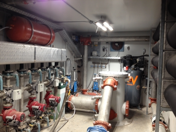 The main mechanical and process equipment for a digester installed by DLS Biogas