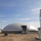 Digester installed by DLS Biogas with a waste gas burner and solids feeder pictured
