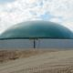 Digester installed by DLS Biogas with an agitation nozzle and observation window pictured