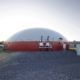 Digester installed by DLS Biogas with a DLS technical container and over/under pressure units pictured